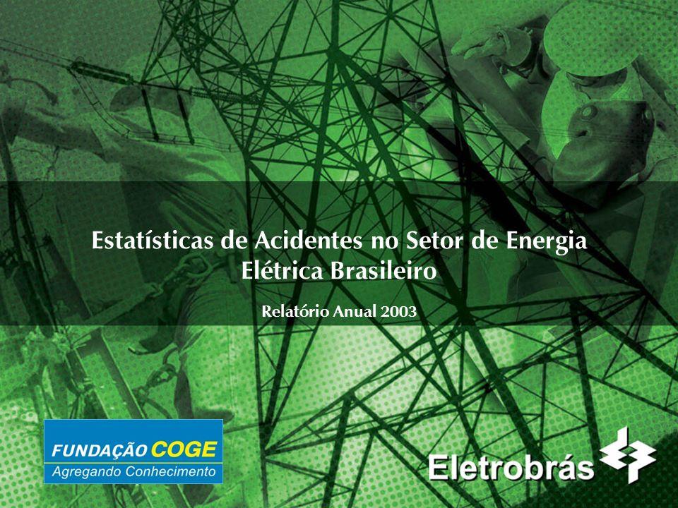 2 Impactos dos Acidentes 2.1Foram perdidas 998.968 horas de trabalho em 2003, o equivalente ao total de horas de um ano de trabalho de uma empresa do porte das seguintes: CERON, CGTEE, DUKE e MANAUS ENERGIA.