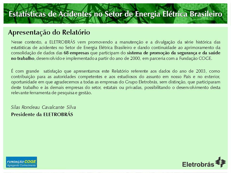 Apresentação do Relatório O compromisso do Grupo Eletrobrás é contribuir para melhorar a condição humana, otimizando a articulação entre as partes int