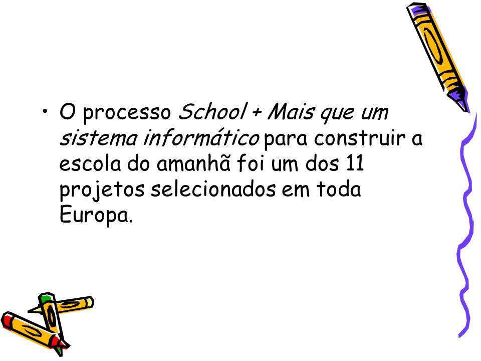 O processo School + Mais que um sistema informático para construir a escola do amanhã foi um dos 11 projetos selecionados em toda Europa.