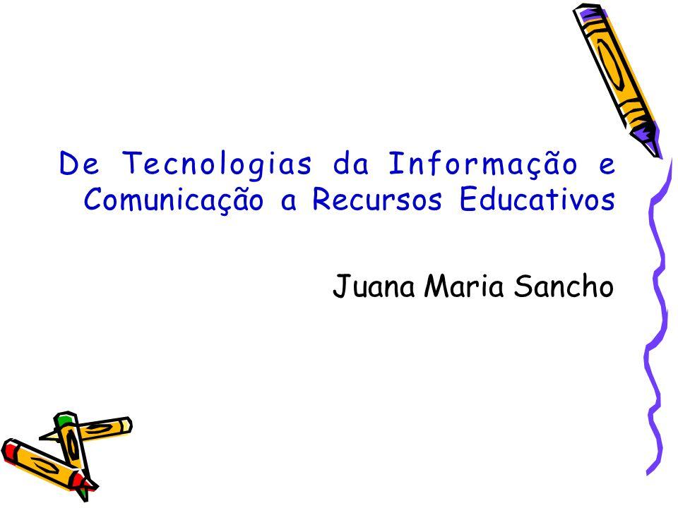 - Utilizamos as próprias TIC para solicitar a participação de pessoas externas às atividades de ensino.