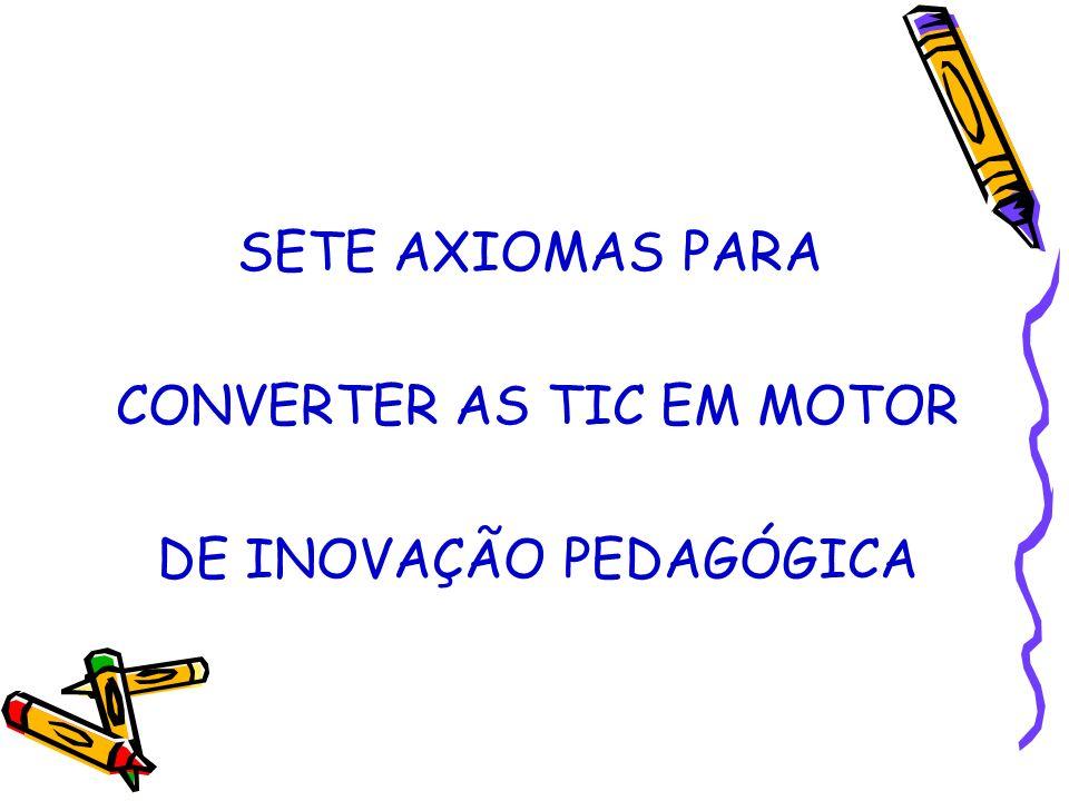 SETE AXIOMAS PARA CONVERTER AS TIC EM MOTOR DE INOVAÇÃO PEDAGÓGICA