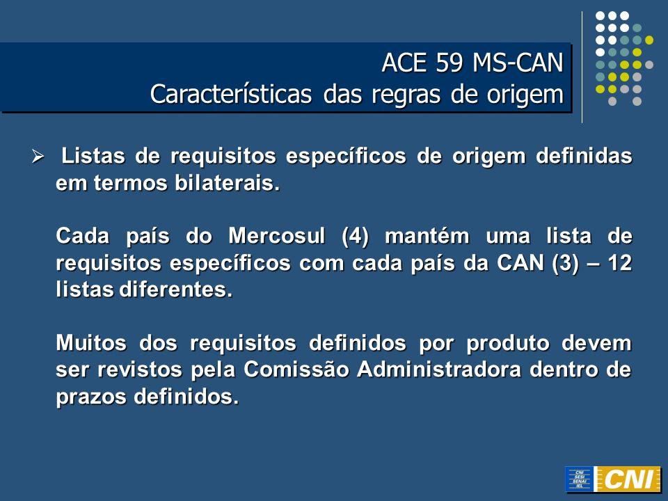 ACE 59 MS-CAN Características das regras de origem ACE 59 MS-CAN Características das regras de origem Listas de requisitos específicos de origem defin