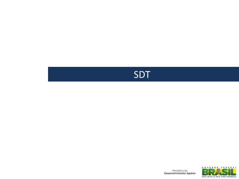 HISTÓRICO DA SECRETARIA A SDT foi criada no governo Lula e passou a integrar formalmente a estrutura do MDA em 2004.