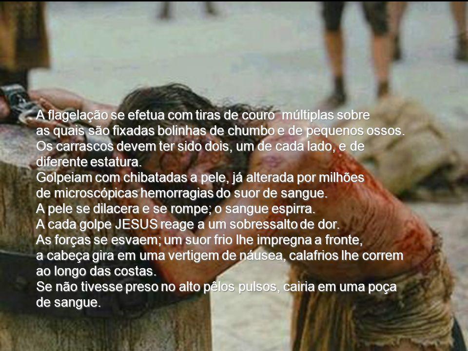 O terror, o susto, a angustia terrível de sentir-se carregando todos os pecados dos homens, devem ter esmagado JESUS. Tal tensão extrema produz o romp