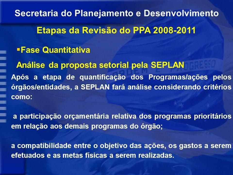 Para a definição dos valores financeiros dos Programas/ações o órgão/entidade deverá observar: - teto estabelecido para a LDO 2010; - alocar primeiram