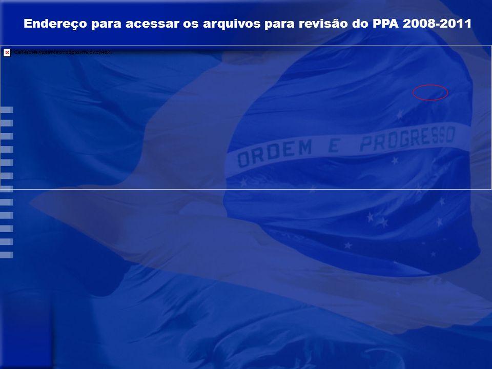 A V I S O COM A REVISÃO DO PPA OS ÓRGÃOS NÃO PODERÃO FAZER ALTERAÇÕES, INCLUSÕES E/OU EXCLUSÕES PARA O ORÇAMENTO DE 2010