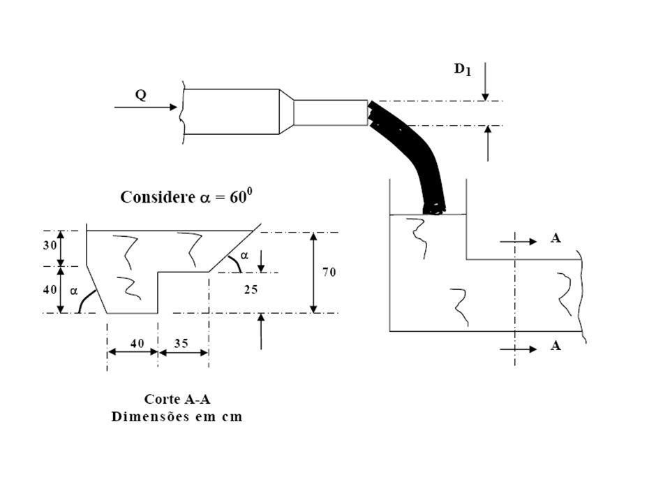 4- Na instalação da figura a máquina M 2 fornece ao fluido uma energia por unidade de peso (carga manométrica) igual a 15 m e a perda de carga total do sistema é 16 m.
