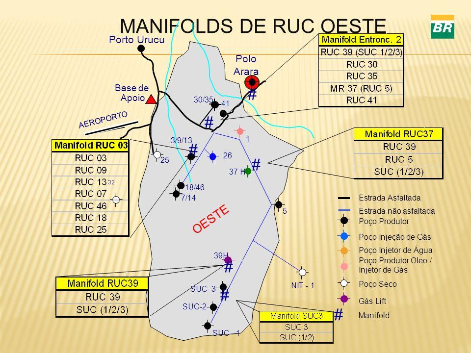 MANIFOLDS DE RUC OESTE FIGURA - 7 GEPRO/GENP - FTMAP1 - DES. CLAUDIO - SET/95 (ARQ. 25 32 AEROPORTO 18/46 5 39H Porto Urucu Base de Apoio 3/9/13 30/35