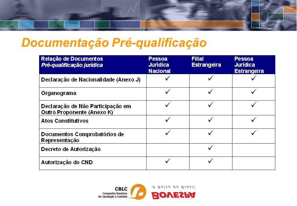 Garantias Títulos Internacionais Emitidos por instituições de baixíssimo nível de risco Depositados: Euroclear (Europa) Clearstream (Europa) Depository Trust Company - DTC (Estados Unidos) Avaliados pelo valor de mercado, deduzido o risco cambial e de mercado