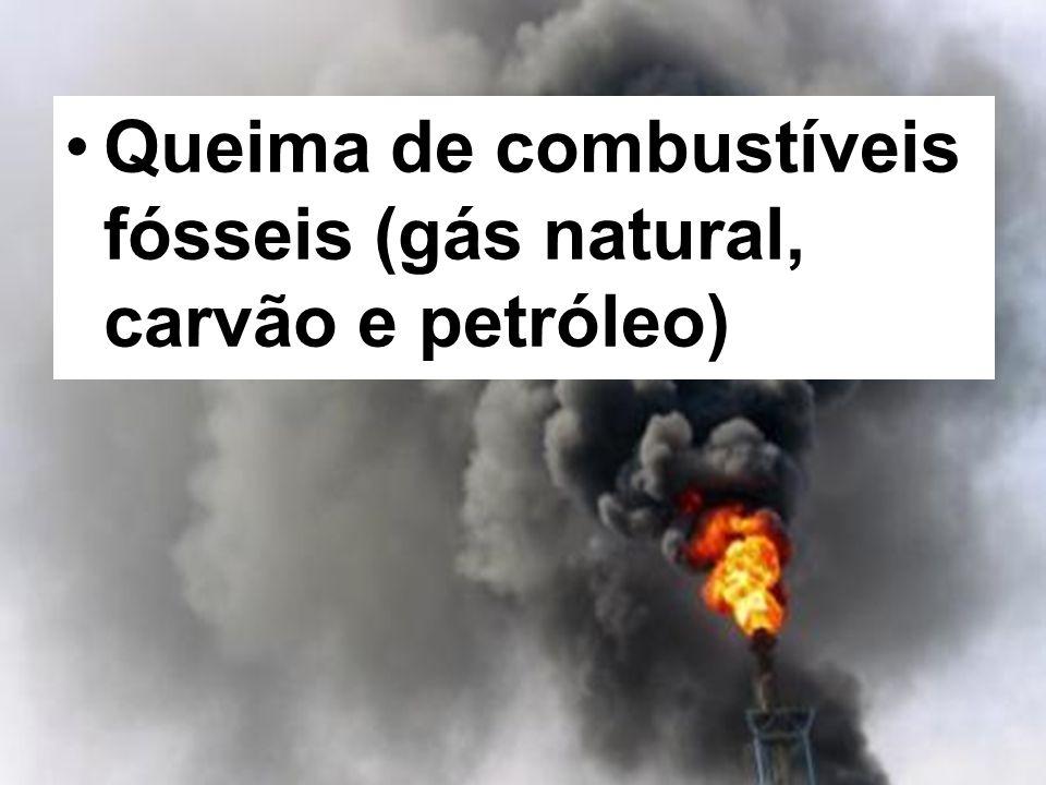 Queima de combustíveis fósseis (gás natural, carvão e petróleo)