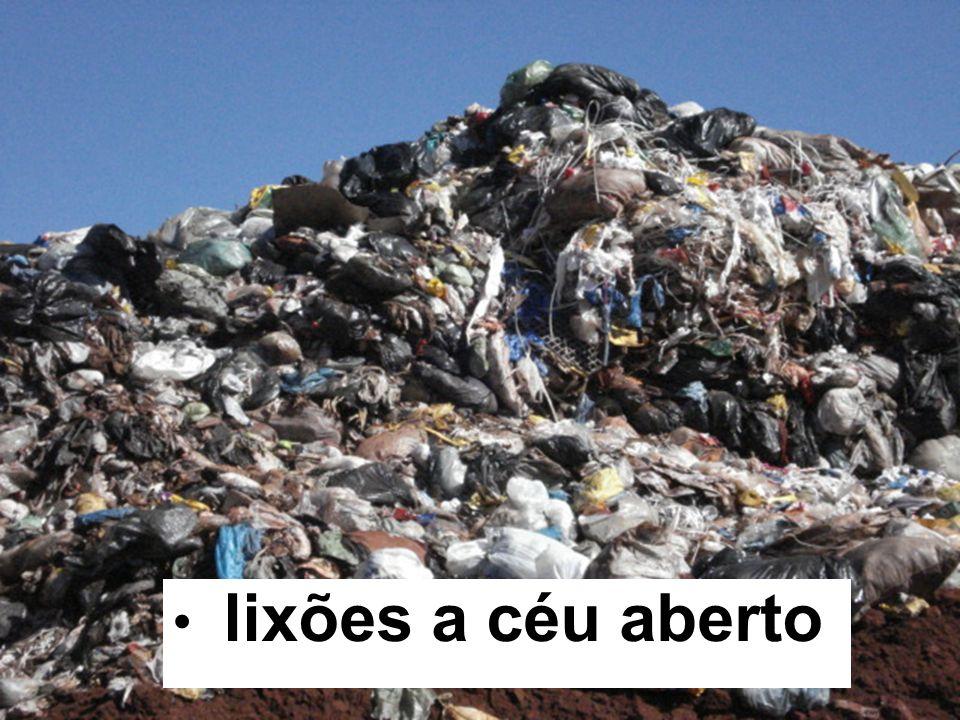 lixões a céu aberto