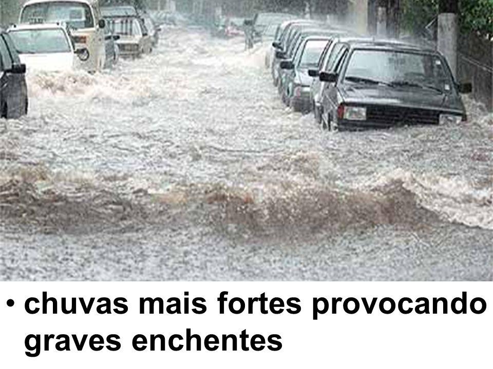 chuvas mais fortes provocando graves enchentes
