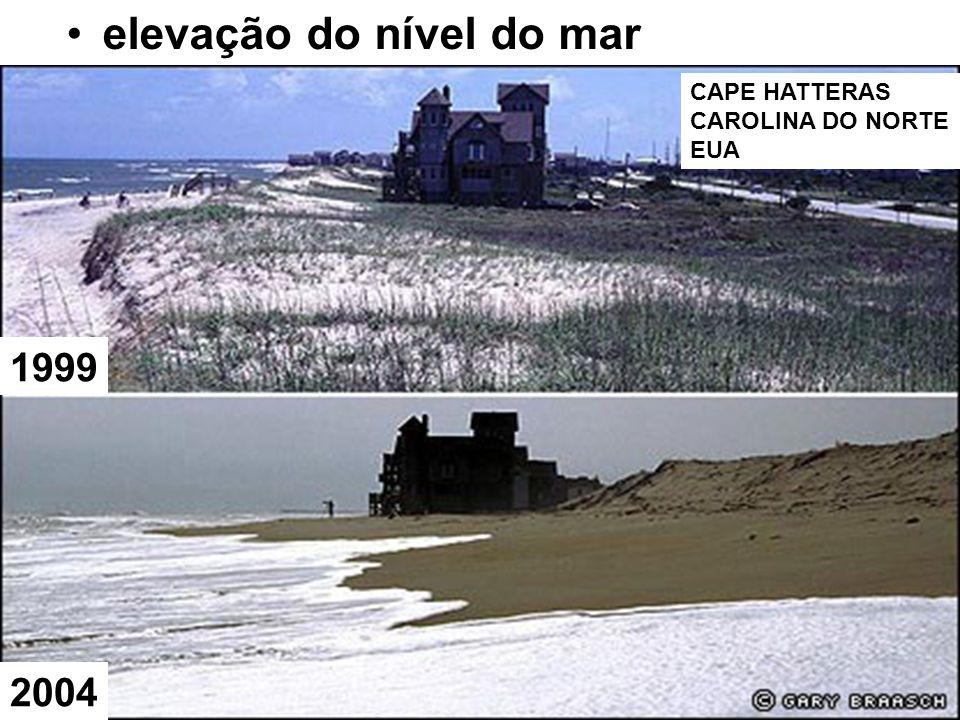 elevação do nível do mar CAPE HATTERAS CAROLINA DO NORTE EUA 1999 2004