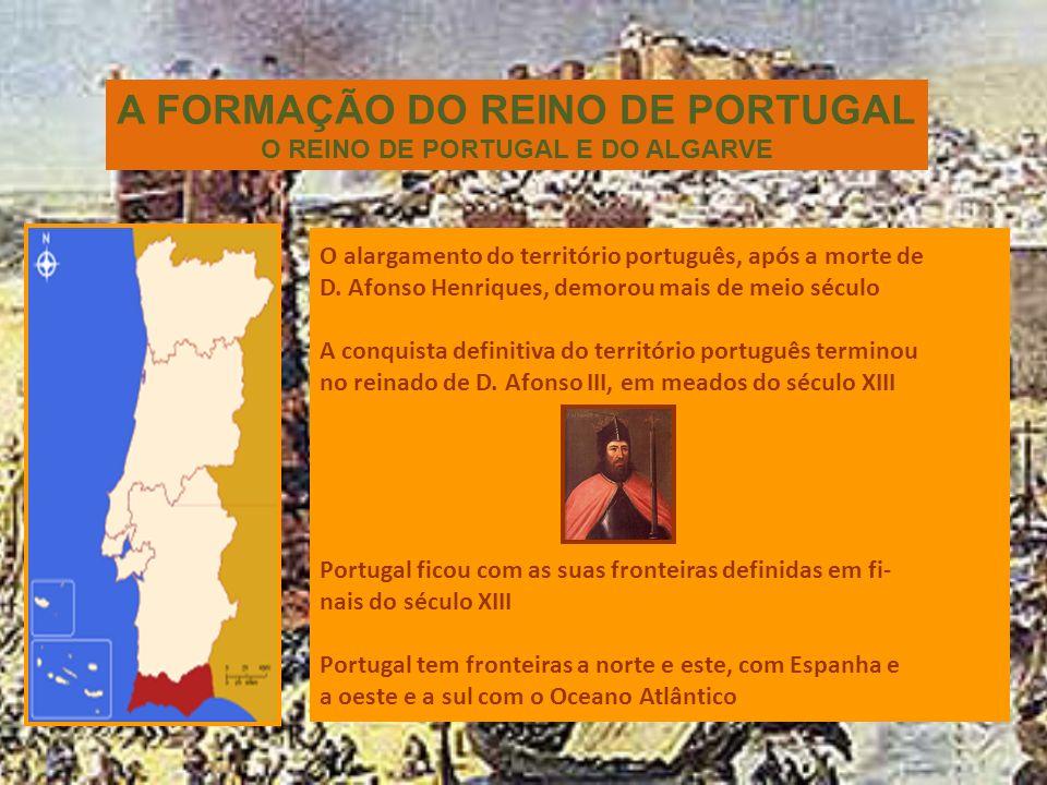 O Alargamento do território D. Afonso Henriques conquista várias cidades importantes aos mouros, como Lisboa e Santarém.