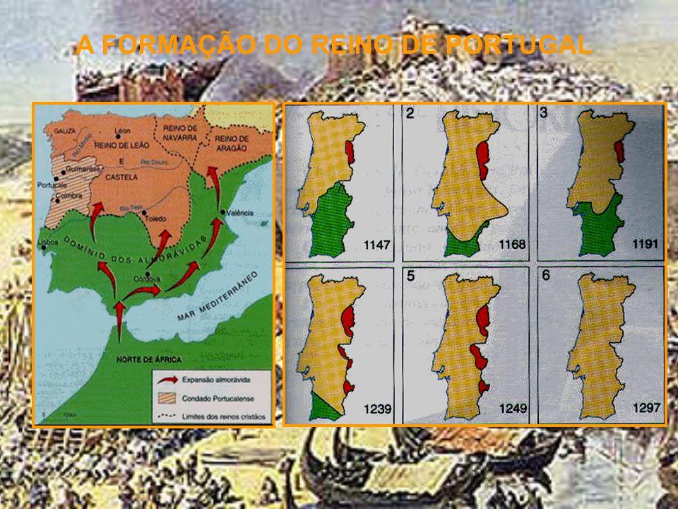 A FORMAÇÃO DO REINO DE PORTUGAL O REINO DE PORTUGAL E DO ALGARVE O alargamento do território português, após a morte de D. Afonso Henriques, demorou m