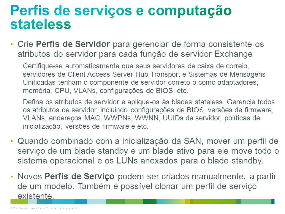 © 2010 Cisco e/ou seus afiliados. Todos os direitos reservados. Crie Perfis de Servidor para gerenciar de forma consistente os atributos do servidor p