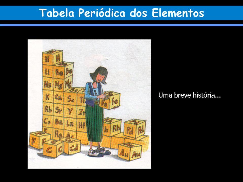 A história da Tabela Periódica começa com a descoberta de alguns elementos químicos.