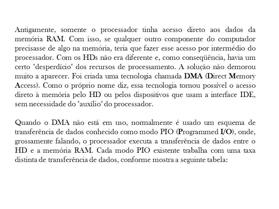 Antigamente, somente o processador tinha acesso direto aos dados da memória RAM. Com isso, se qualquer outro componente do computador precisasse de al