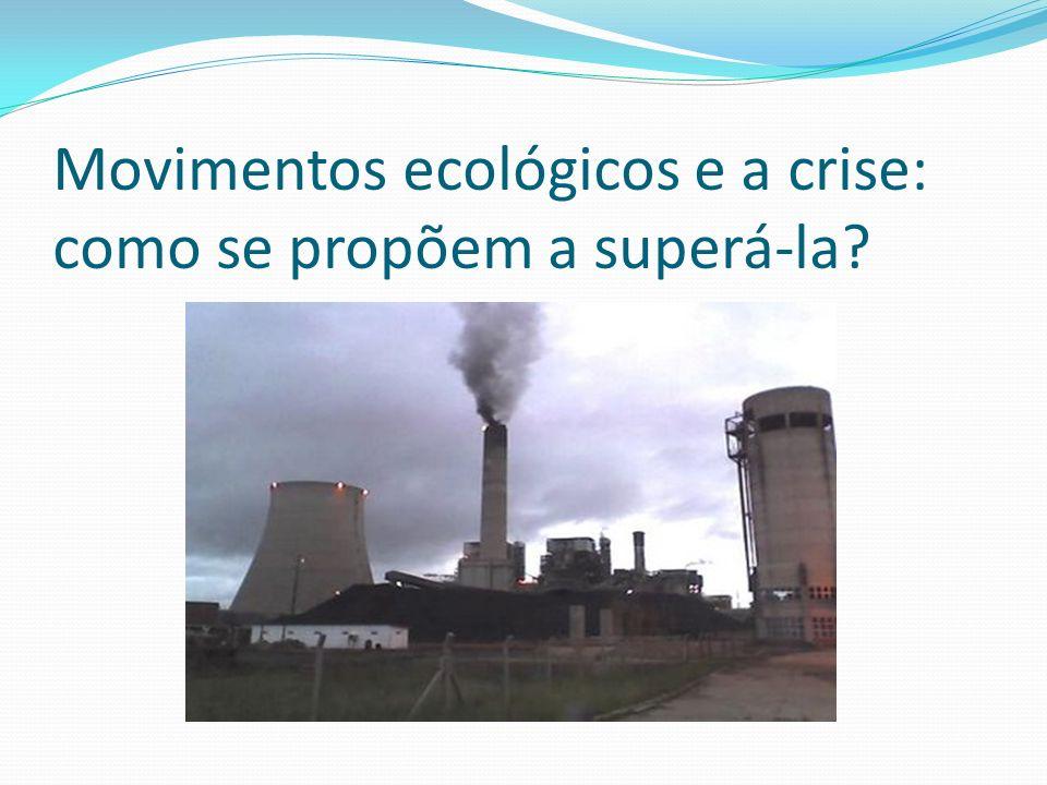 Movimentos ecológicos e a crise: como se propõem a superá-la?