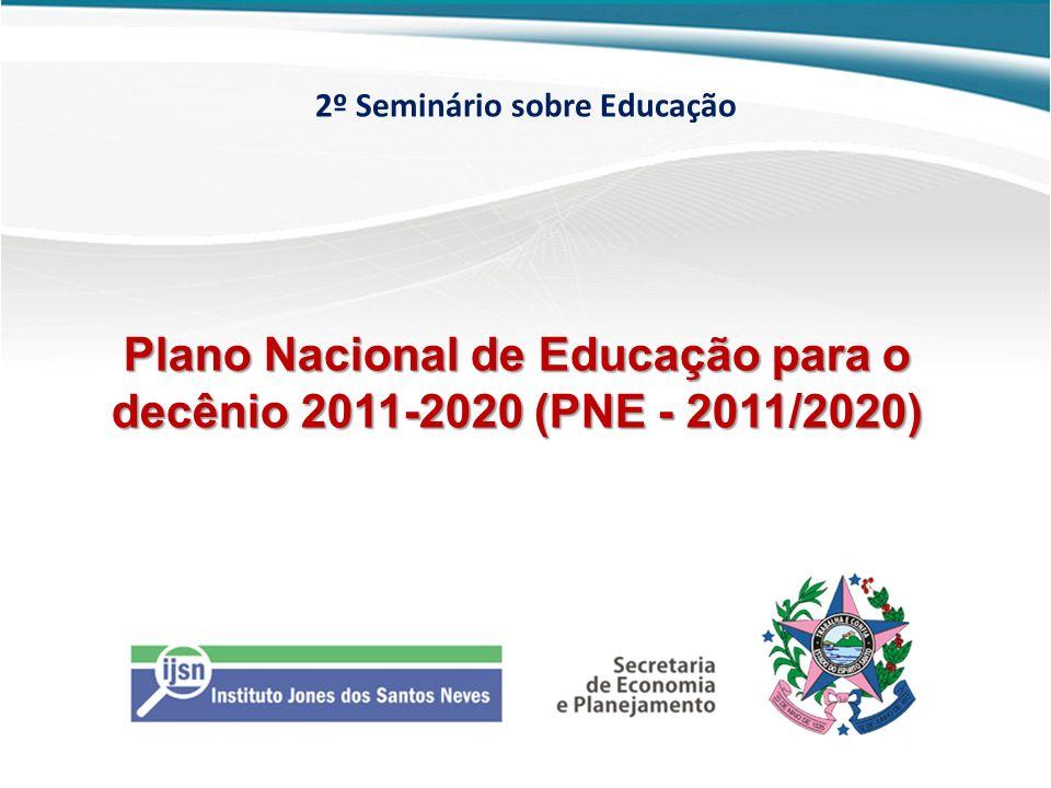 2º Seminário sobre Educação Plano Nacional de Educação para o decênio 2011-2020 (PNE - 2011/2020)