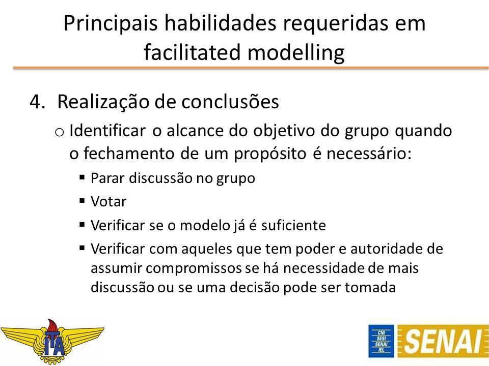 4.Realização de conclusões o Identificar o alcance do objetivo do grupo quando o fechamento de um propósito é necessário: Parar discussão no grupo Vot