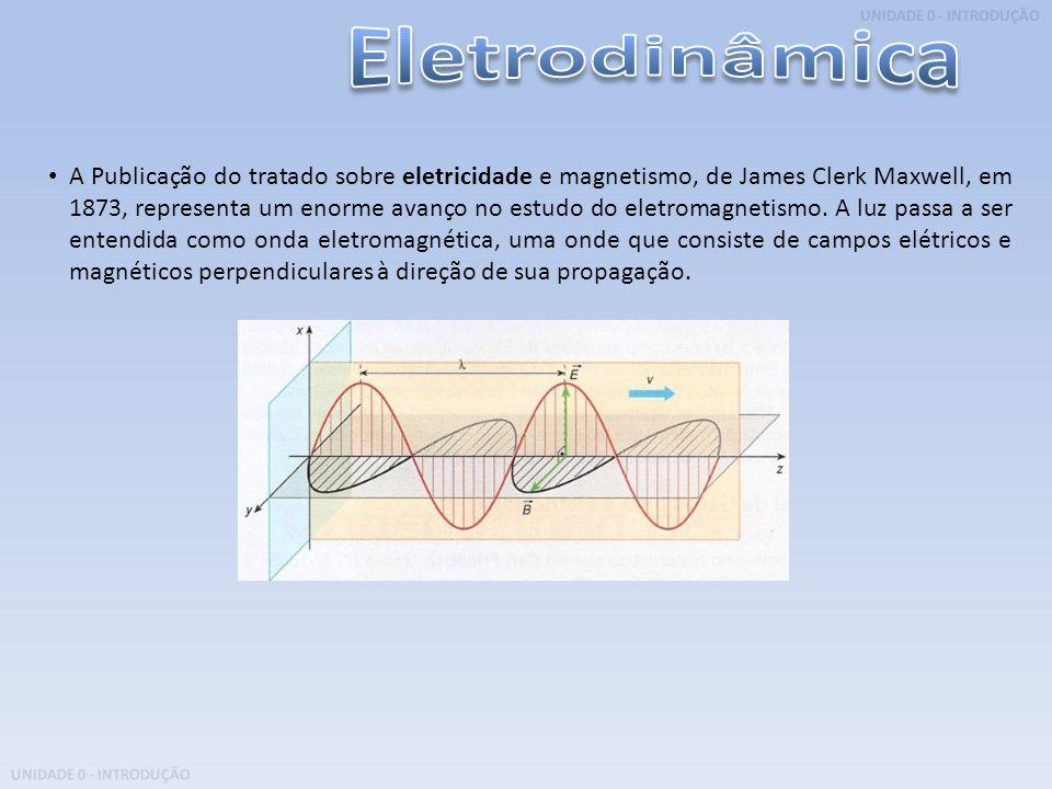 UNIDADE 0 - INTRODUÇÃO A Publicação do tratado sobre eletricidade e magnetismo, de James Clerk Maxwell, em 1873, representa um enorme avanço no estudo