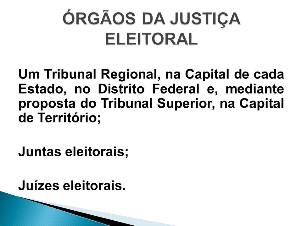 A lista tríplice organizada pelo Tribunal de Justiça será enviada ao Tribunal Superior Eleitoral.