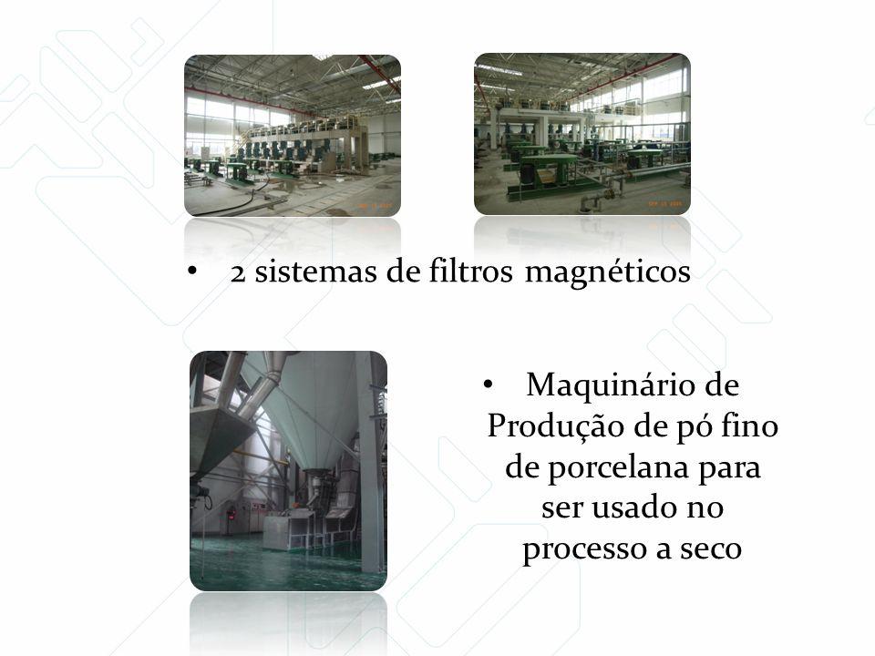 2 sistemas de filtros magnéticos Maquinário de Produção de pó fino de porcelana para ser usado no processo a seco