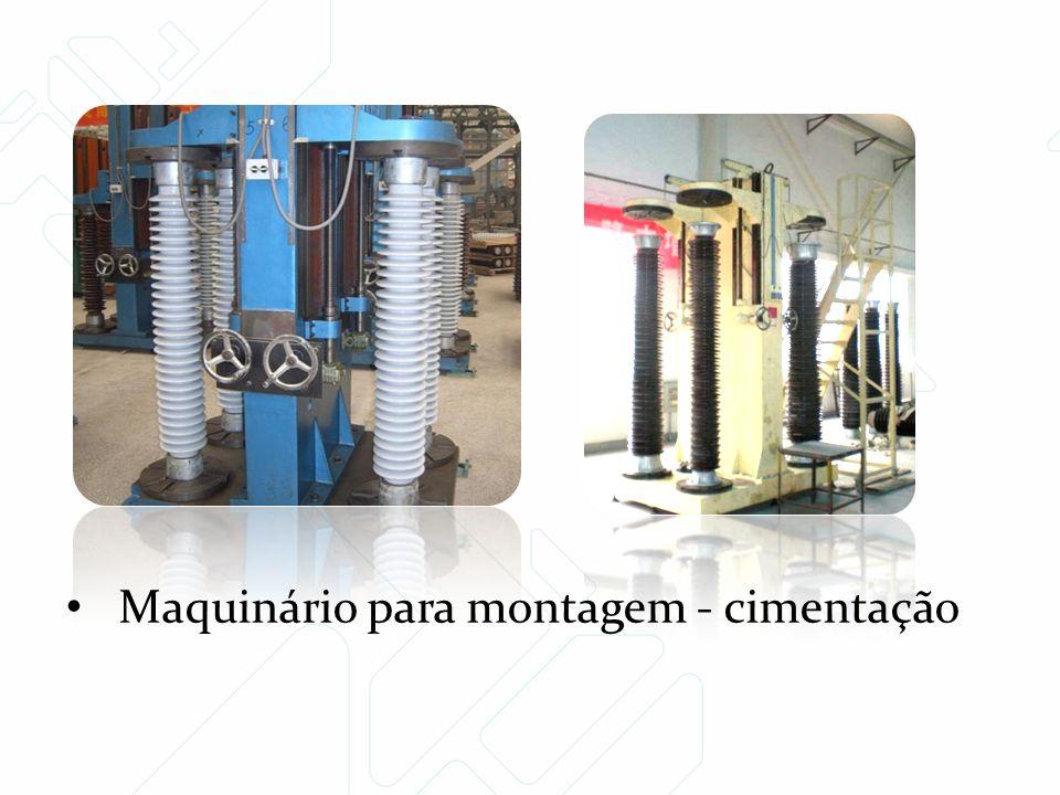 Maquinário para montagem - cimentação
