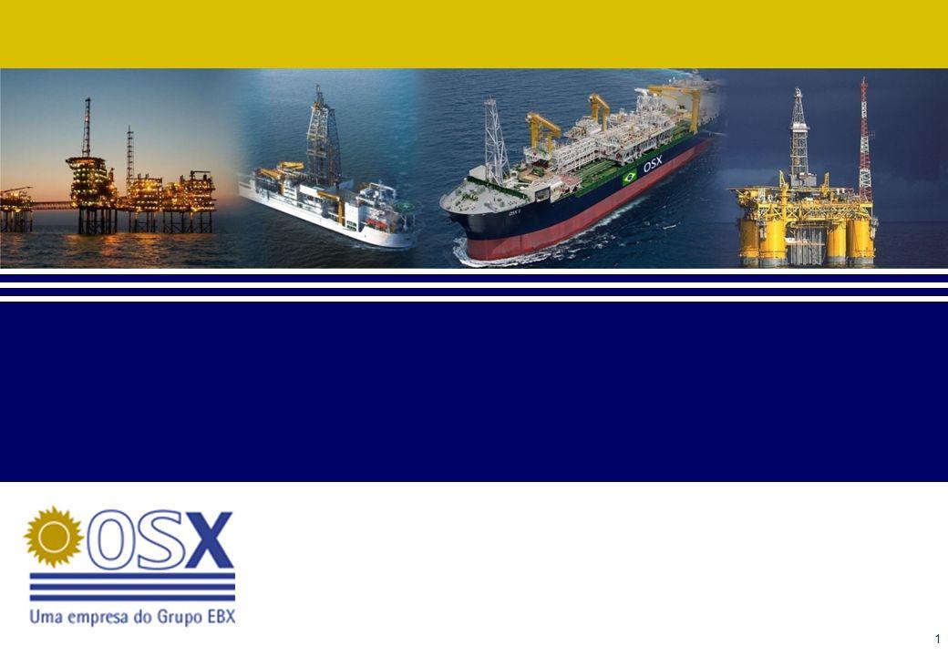 12 OSX Serviços O foco: prestação de serviços. Operação e manutenção de unidades maritimas.
