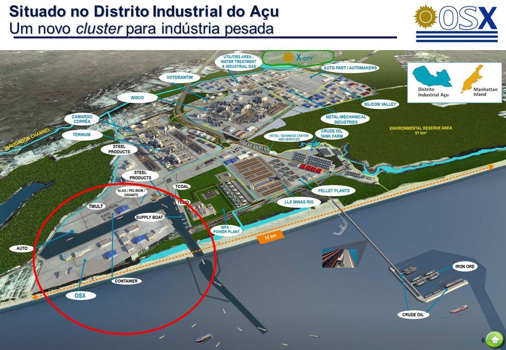 6 Situado no Distrito Industrial do Açu Um novo cluster para indústria pesada 6