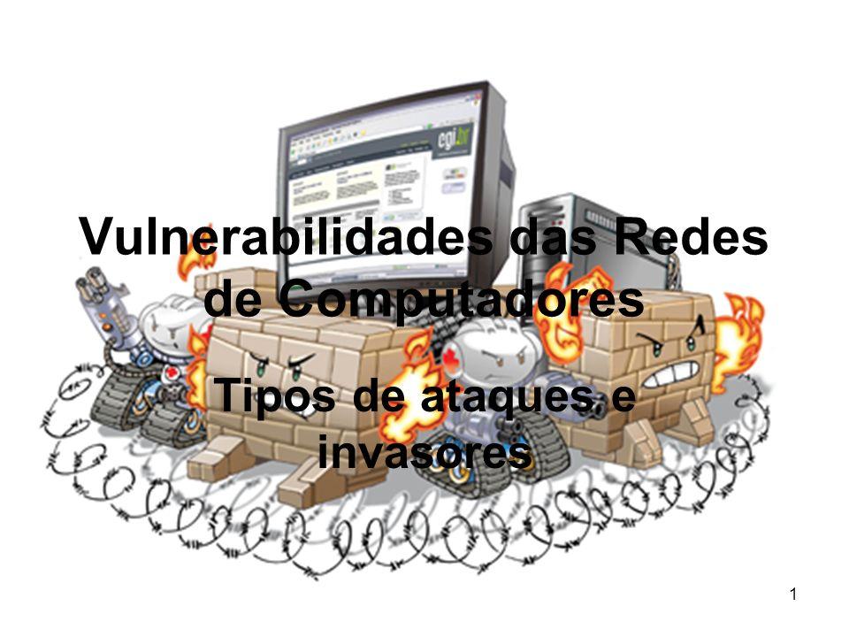 Vulnerabilidades das Redes de Computadores Tipos de ataques e invasores 1