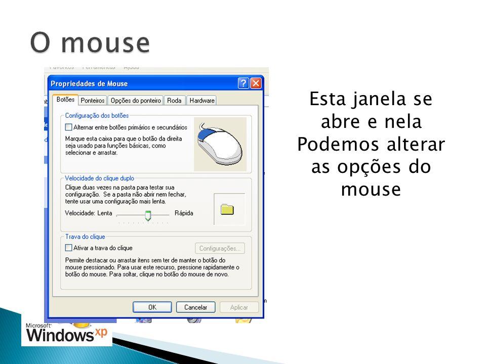 Esta janela se abre e nela Podemos alterar as opções do mouse