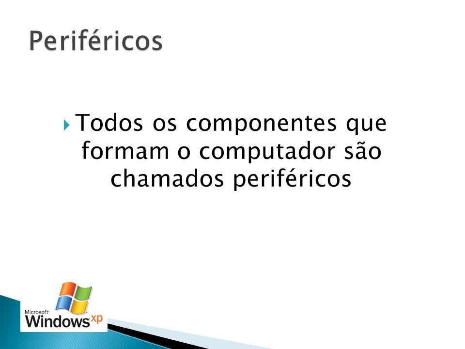 Todos os componentes que formam o computador são chamados periféricos