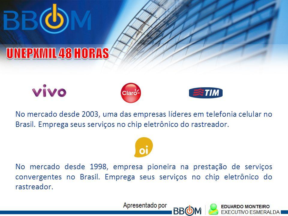 No mercado desde 2003, uma das empresas líderes em telefonia celular no Brasil. Emprega seus serviços no chip eletrônico do rastreador. No mercado des