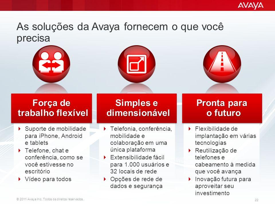 © 2011 Avaya Inc.Todos os direitos reservados.
