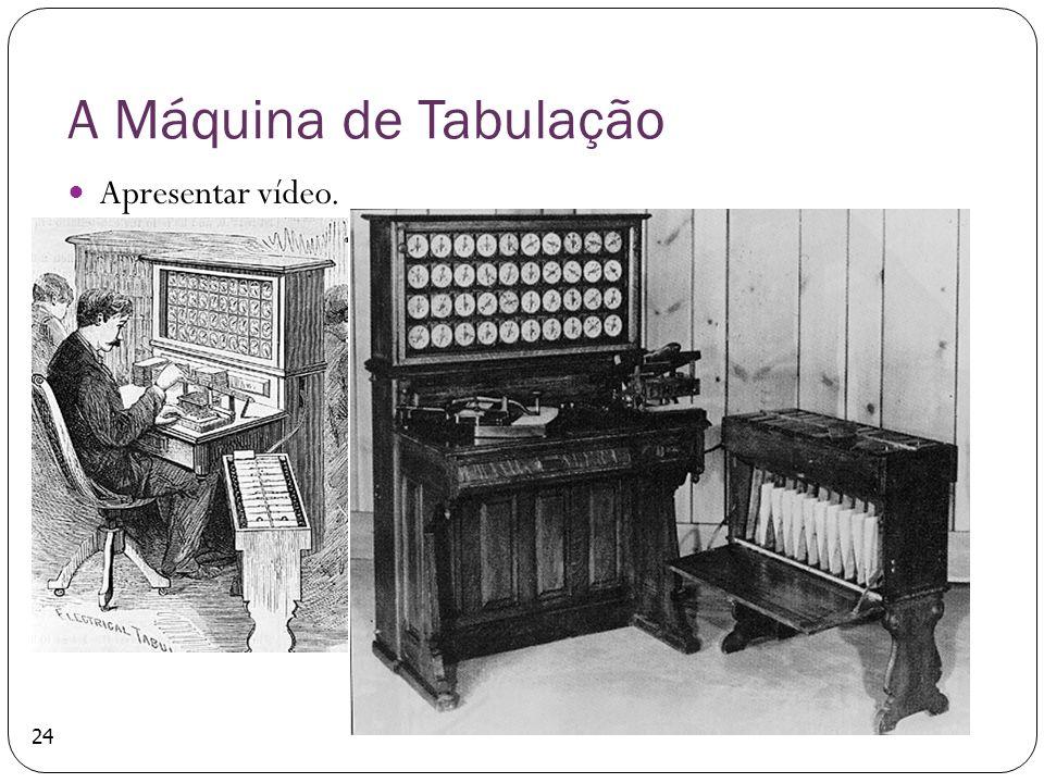 A Máquina de Tabulação Apresentar vídeo. 24