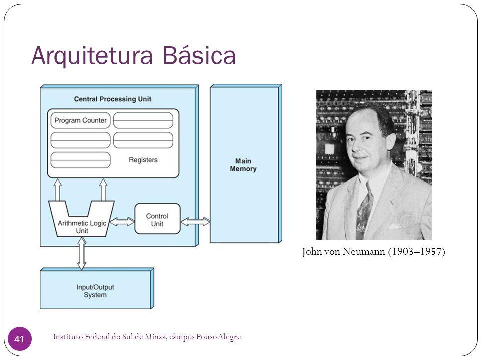 Arquitetura Básica Instituto Federal do Sul de Minas, câmpus Pouso Alegre 41 John von Neumann (1903–1957)