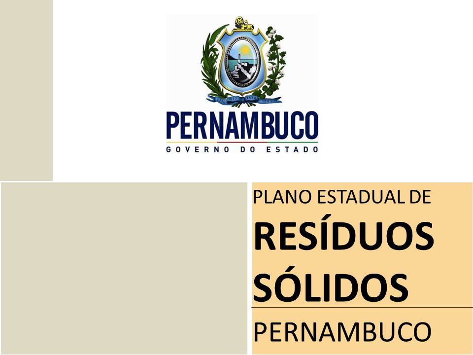 PLANO ESTADUAL DE RESÍDUOS SÓLIDOS PERNAMBUCO