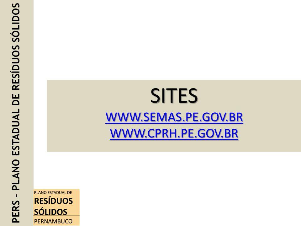 SITES WWW.SEMAS.PE.GOV.BR WWW.CPRH.PE.GOV.BR