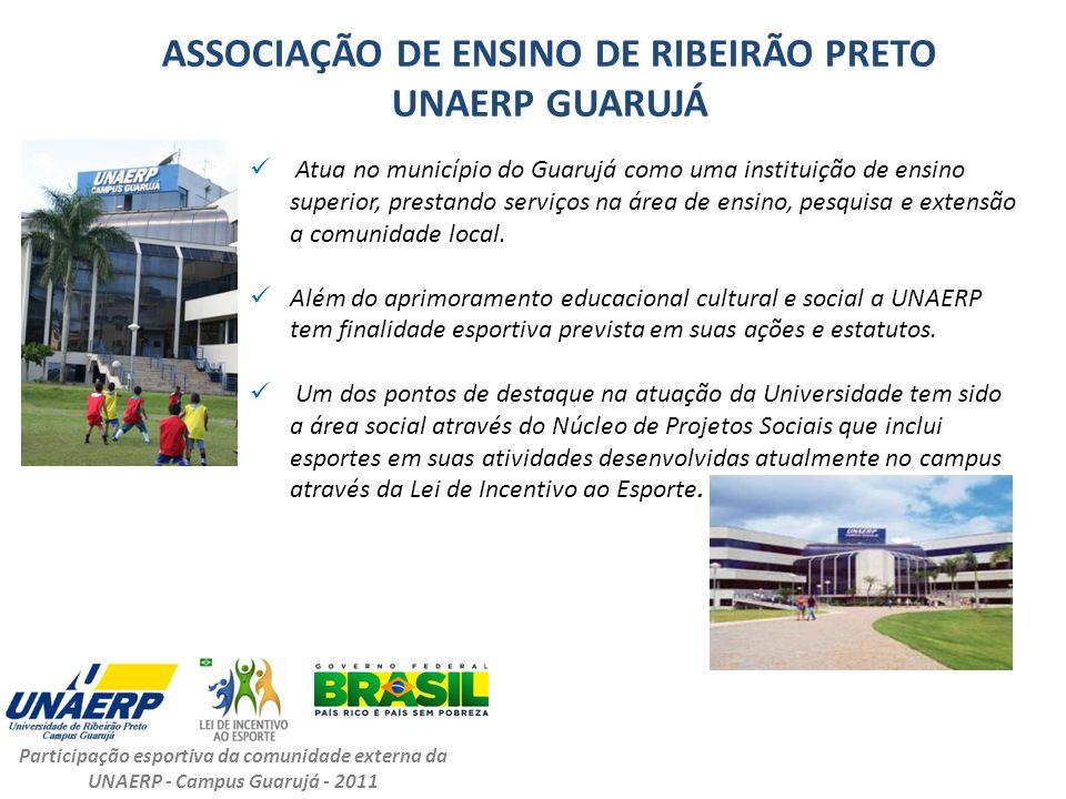 ASSOCIAÇÃO DE ENSINO DE RIBEIRÃO PRETO UNAERP GUARUJÁ Atua no município do Guarujá como uma instituição de ensino superior, prestando serviços na área