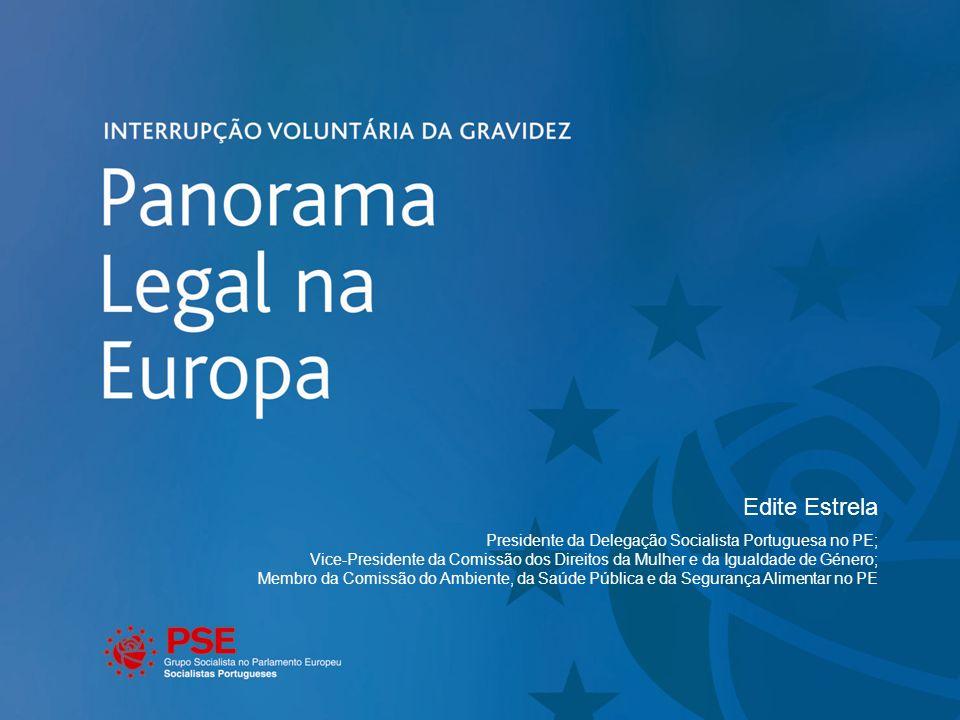 Edite Estrela Presidente da Delegação Socialista Portuguesa no PE; Vice-Presidente da Comissão dos Direitos da Mulher e da Igualdade de Género; Membro da Comissão do Ambiente, da Saúde Pública e da Segurança Alimentar no PE