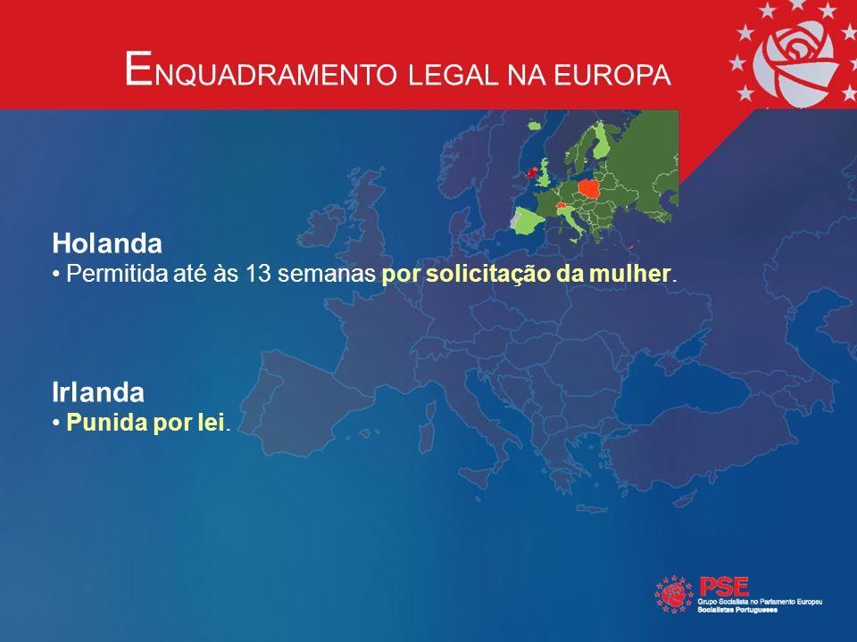 Holanda Permitida até às 13 semanas por solicitação da mulher.