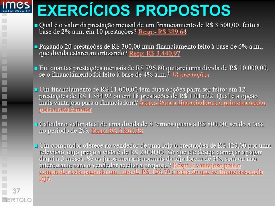 Achando taxa efetiva na HP-12C A fórmula básica é: (1 + i aa ) i aa ) = (1 + i am ) n Na HP-12C isso pode ser feito como f FIN f 4 1 CHS PV Taxa mensa