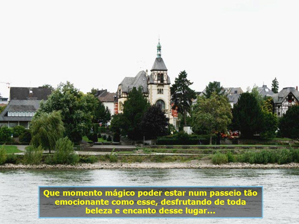 Este trecho da navegação até Colônia, constitui-se no que se chama o Reno Romântico Alemão...