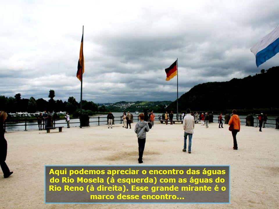 Um detalhe interessante para os brasileiros é o fato de Koblenz estar localizada nas proximidades da região do Hunsrück, de onde sairam a maior parte dos imigrantes alemães rumo ao sul do Brasil, a partir de 1824...