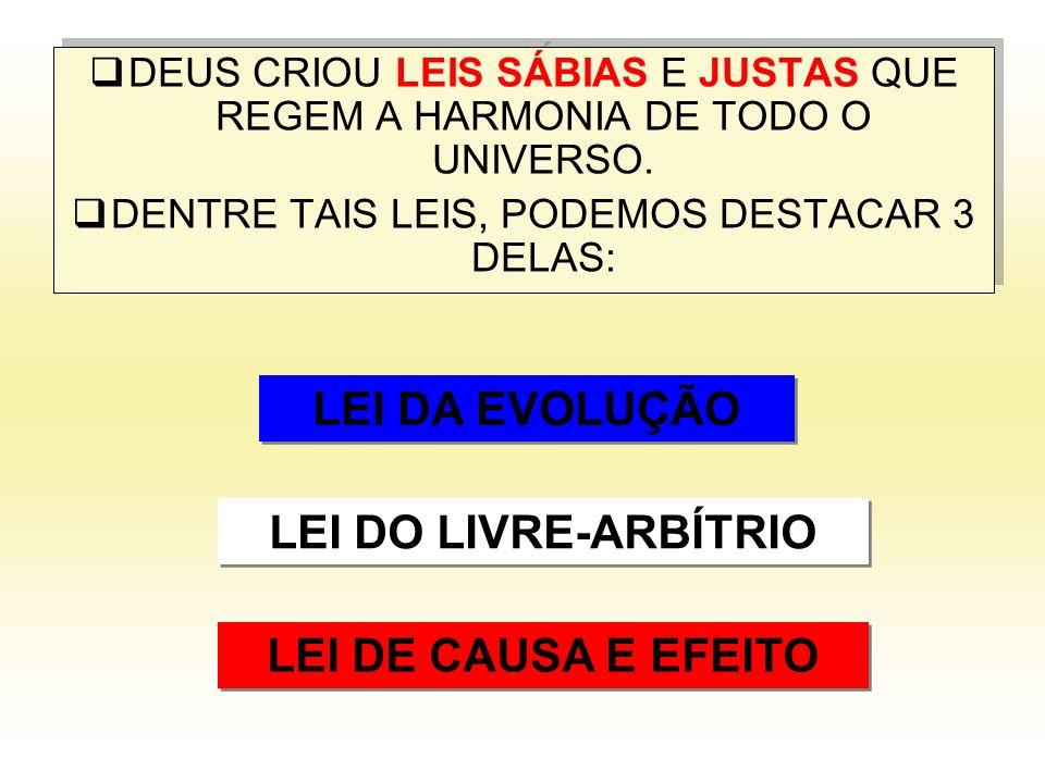 DEUS CRIOU LEIS SÁBIAS E JUSTAS QUE REGEM A HARMONIA DE TODO O UNIVERSO.