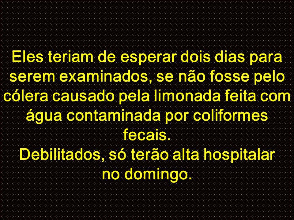 Foram levados para o Hospital Miguel Couto, depois de terem esperado três horas para que o socorro chegasse e percorresse os hospitais da rede pública