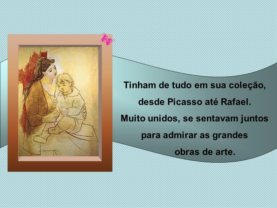O pai colocou a tela à frente de suas grandes obras de arte, e a cada vez que alguém visitava sua casa, ele mostrava o retrato do filho, antes de mostrar sua famosa galeria.