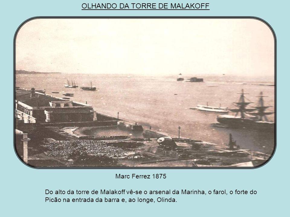 O ARSENAL DA MARINHA João Ferreira de Vilela c.1865 Destaque para o estaleiro onde há um navio em construção e, ao fundo, a torre de Malakoff que serv
